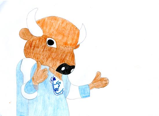 Рисунок Наташи Мостовской (8 лет), победителя в средней возрастной категории